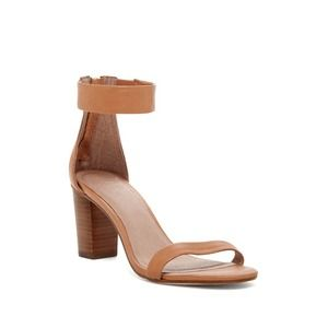 Joie Loueze Leather Ankle Strap Sandal In Tobacco